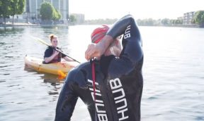 Open water swim coaching in London