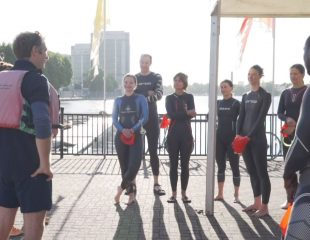 Canary Wharf open water swim coaching