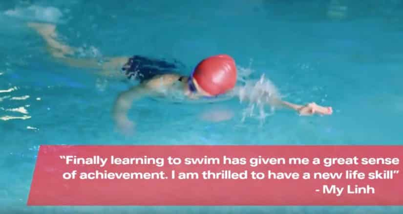 Swimming lessons for adults