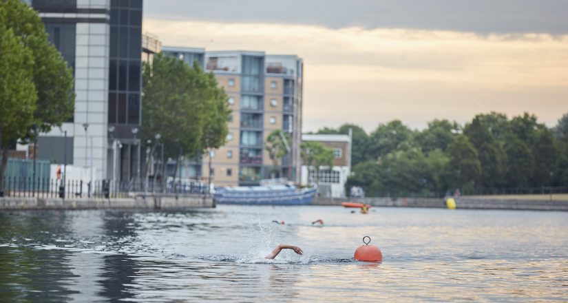 Canary Wharf Open Water Swim Coaching.