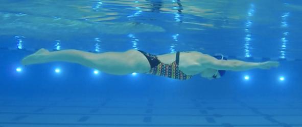 Breaststroke swimming